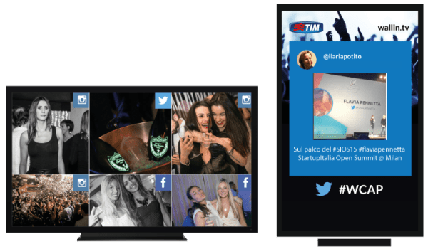 Wallin.tv, digital signage e social wall