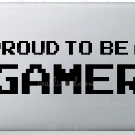 proud to be a gamer laptop sticker