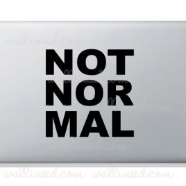 not normal laptop sticker