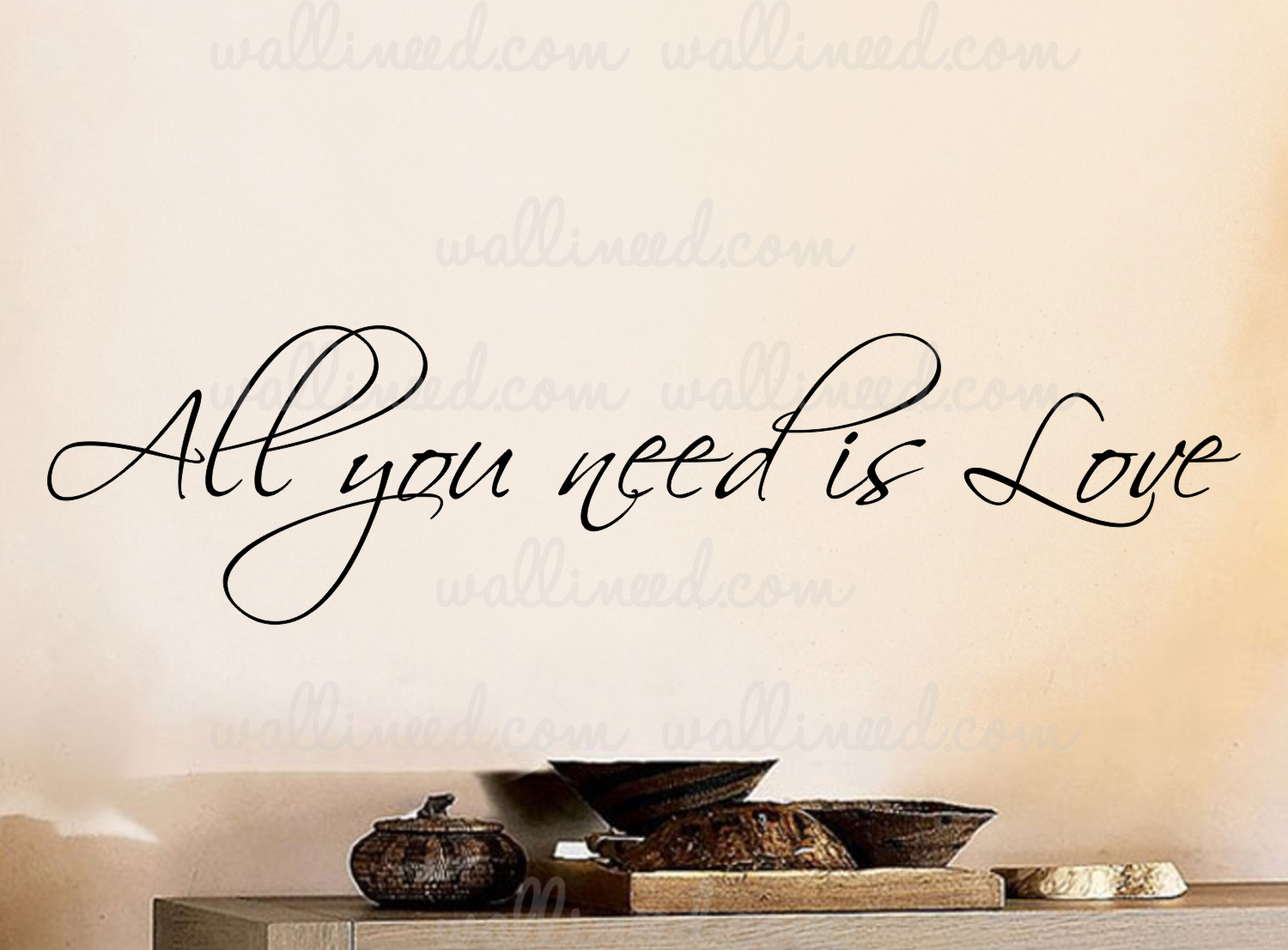 All you need is love wall decal vinyl art quote sticker all you need is love amipublicfo Choice Image