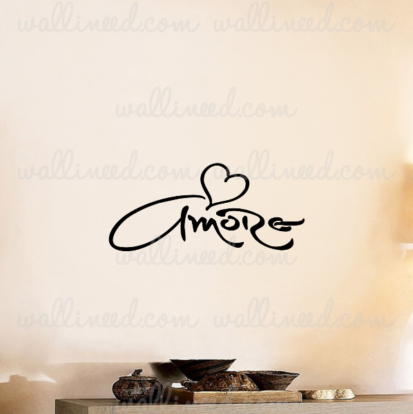 Amore Love Heart Wall Decal Vinyl Sticker
