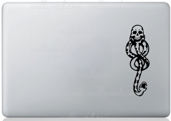 harry potter dark mask laptop sticker