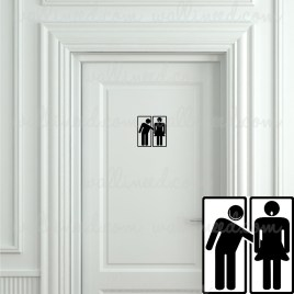 funny toilet sign sticker