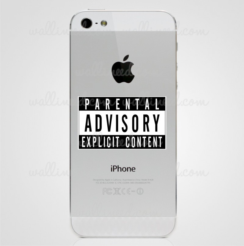 Parental Advisory Sticker iPhone Sticker