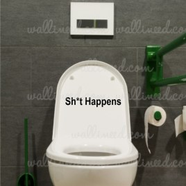 shit happens sign sticker