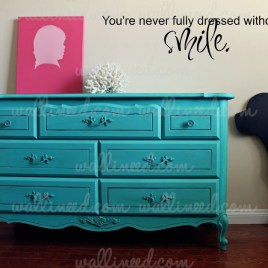 you're not fully dress wall decal