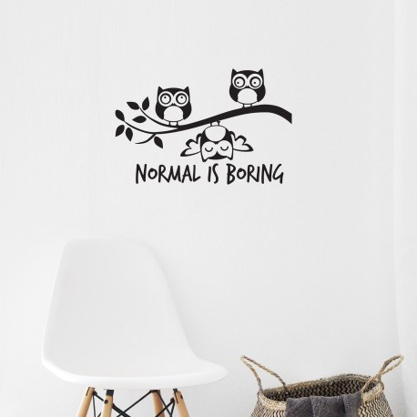 Normal Is Boring - Wall Decal