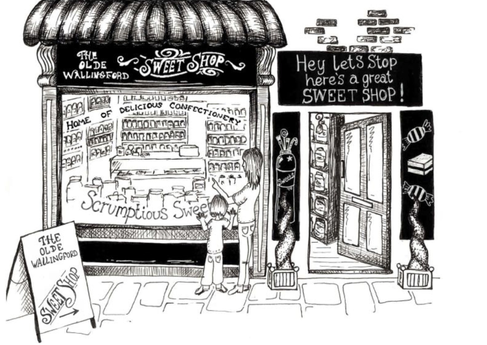 Old Wallingford Sweet Shop no car