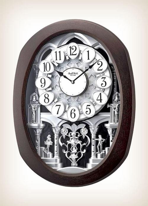 Encore Espresso Rhythm Clock 4MH896WU06