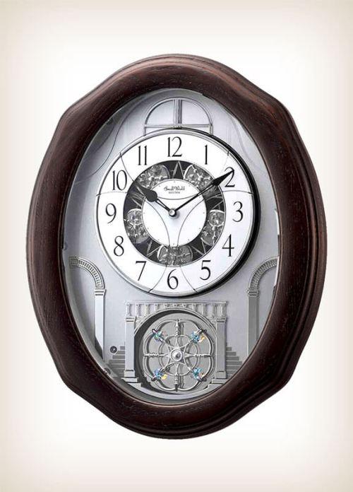 Glory Espresso Rhythm Clock 4MH895WU06