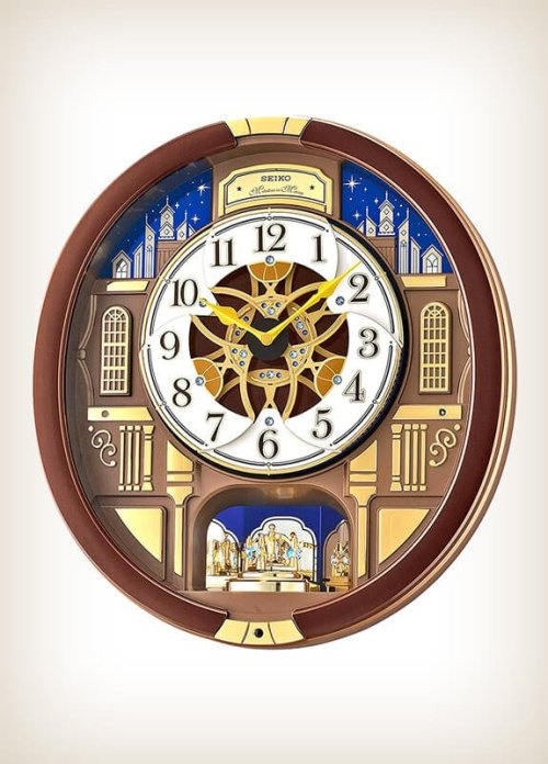 Seiko QXM362BRH Garland Melody Motion Clock