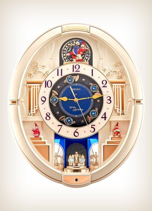 Seiko RE572SWave Symphony Contraption Melodies in Motion Wall Clock