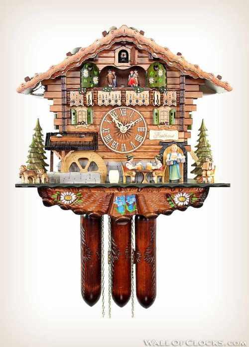 Bavarian Guesthouse 488-11 Adolf Herr Cuckoo Clock