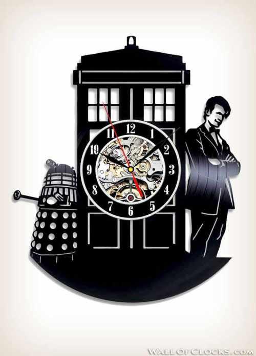 Doctor Who Vinyl Clock