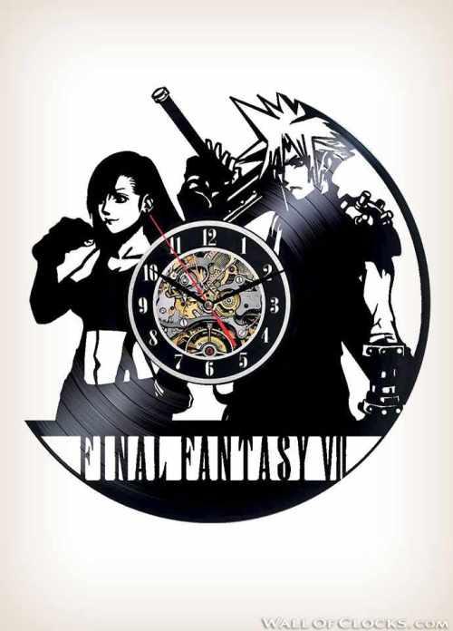 Final Fantasy VII Vinyl Clock