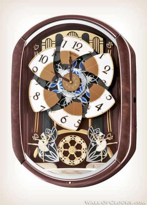 Seiko QXM297B Ballerina Melodies in Motion Clock-2