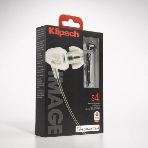 Klipsch Image s4i, in its' shelf package