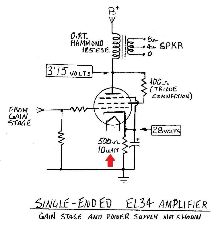output tube biasing, an introduction – part 2 | wall of ... bias tube amp circuit diagrams #5