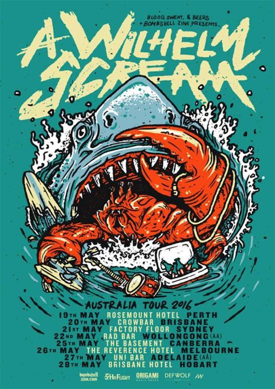 aws tour poster