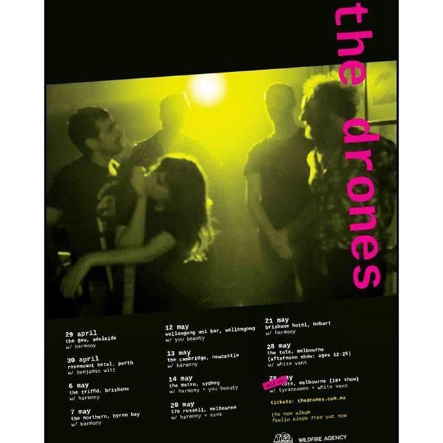 drones tour poster