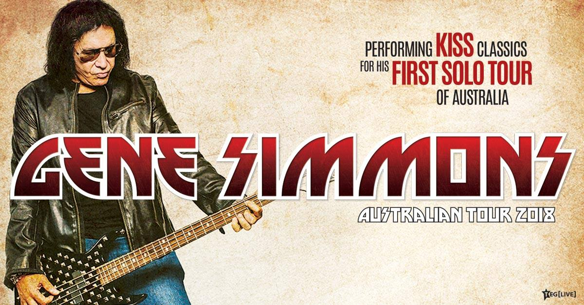 Gene Simmons unveils debut Solo Australian Tour in 2018