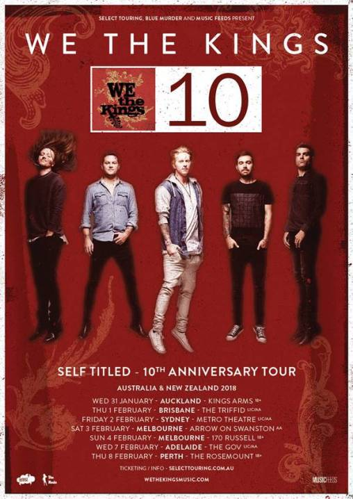 we the kings tour