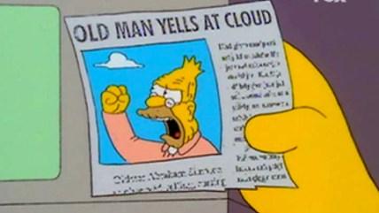 simpsons old man cloud