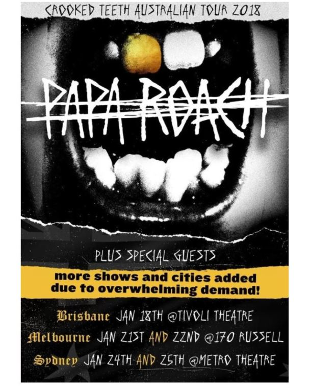 Crooked Teeth Tour_Papa Roach