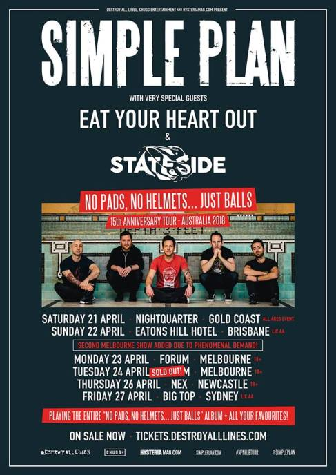 simple plan tour 2018