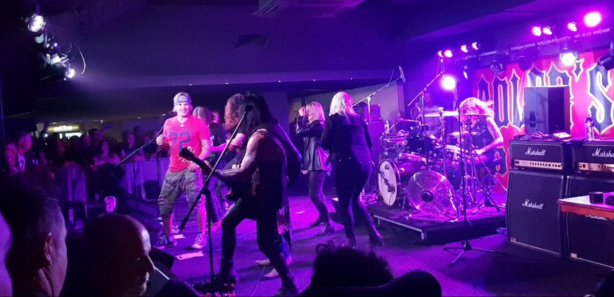 Watch Steel Panther join Steven Adler/Adler's Appetite on stage last night