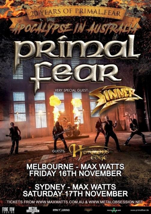 primal fear tour