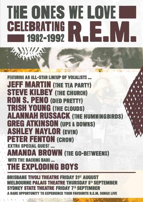 R.E.M. The Ones we Love Tribute Tour