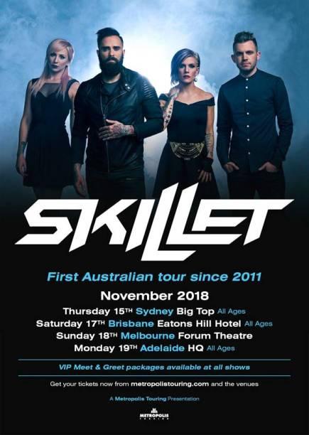 Skillet Australian Tour