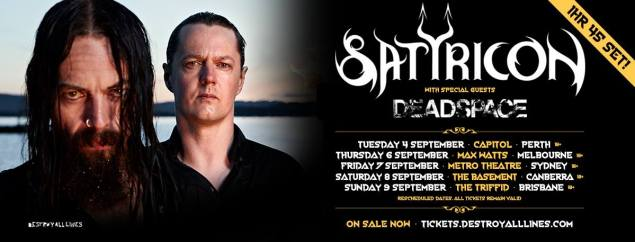 satyricon - tour 2018