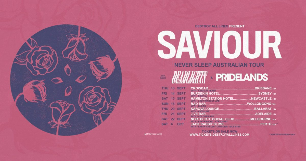 Saviour – Gig Review 22nd September @ The Northcote Social Club, Melbourne VIC