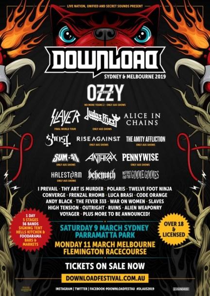 Download Festival 2019 Australia