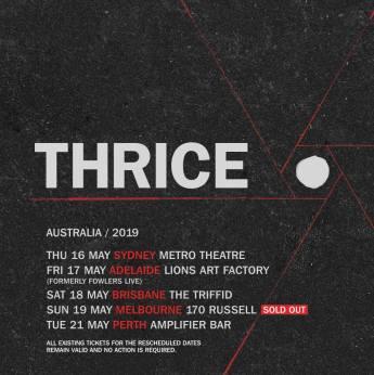 Thrice Rescheduled Tour