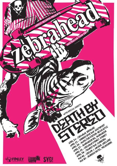 zebrahead death by stereo aus tou