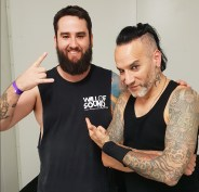 Browny with Roy Mayorga from Stone Sour