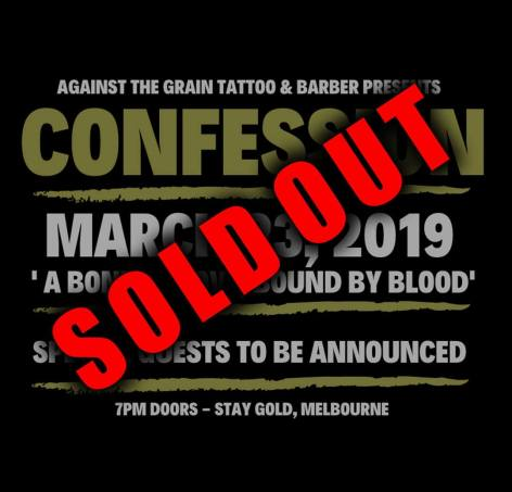 Confession show Sold Out