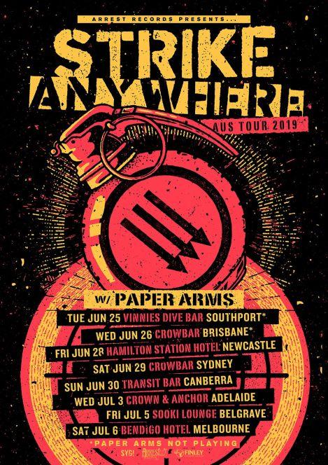 strike anywhere tour