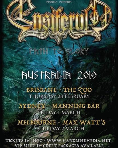 Ensiferum East Coast Tour