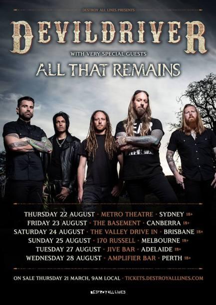 devildriver tour 2019