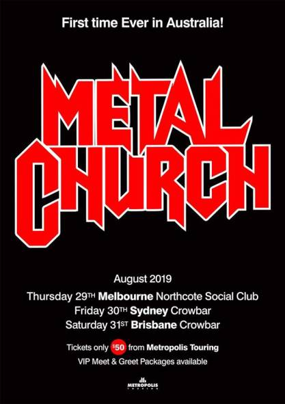 Metal Church Debut Australian Tour