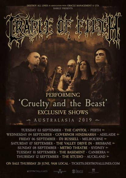 cradle of filth tour 2019