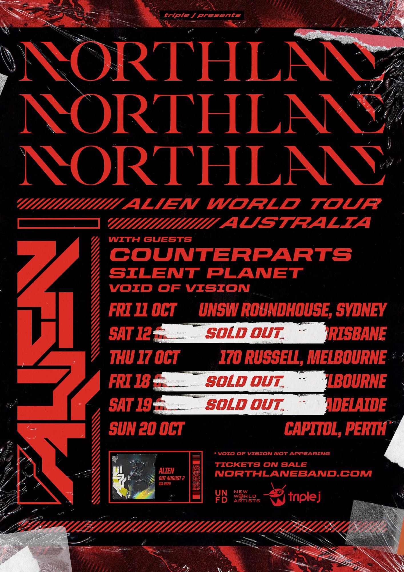northlane aus tour