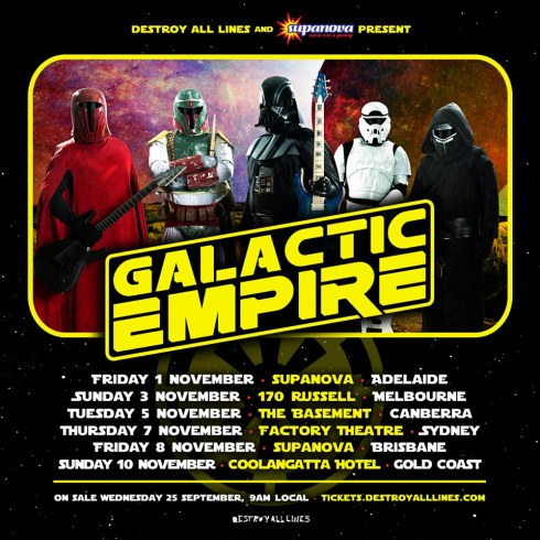 galactic empire tour poster