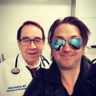 Kelly with Dr. John Godwin