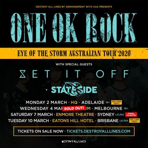 one ok rock update