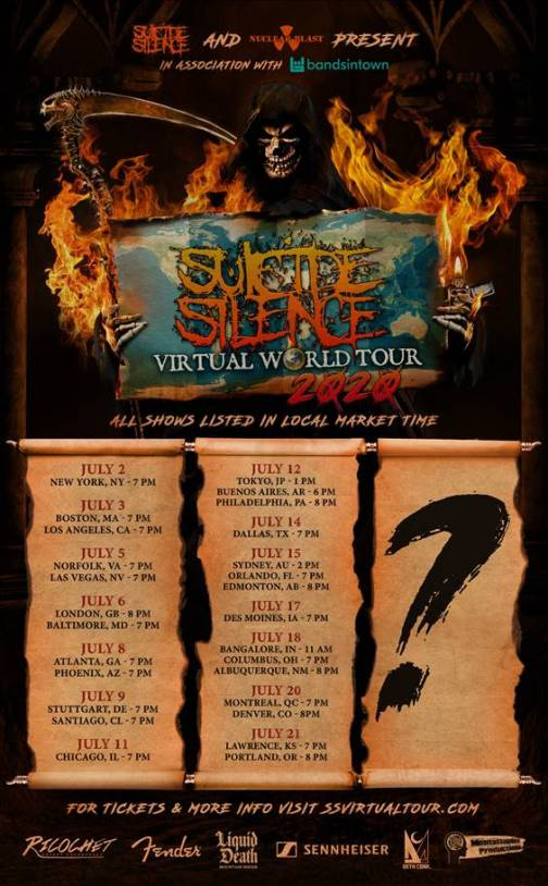 suicide silence virtural tour